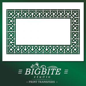 Shabby Chic Stencil Mosaic Mauresque Pattern