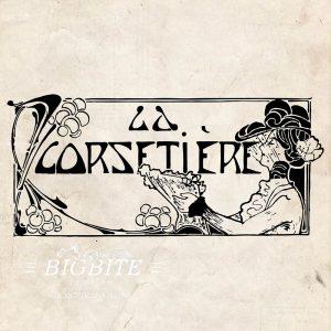 Art Deco Print Transfer: 'La Corsetier' Corset Maker Advert #075