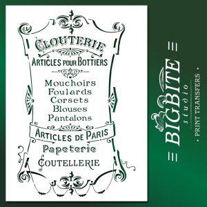 Main image of French Stencil Articles de Paris - Clouterie Advert