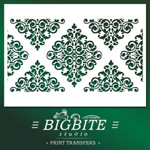 Shabby Chic Stencil Ornamental Pattern Strip
