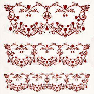 Floral Heart Pattern Decorative Stencil