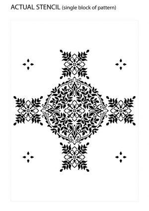 Actual Design of Floral Mandala Stencil Pattern