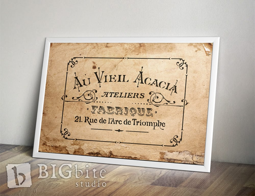 French Stencil - Acacia Ateliers