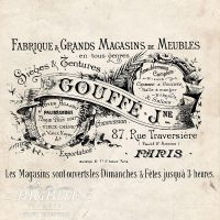 vintage French Gouffe Fabrique
