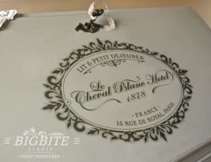 Vintage French Hotel Cheval Blanc Advert - preview on the bureau