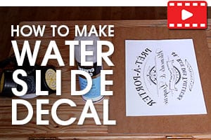 How To Make Custom Water Slide Decals - Tutorial