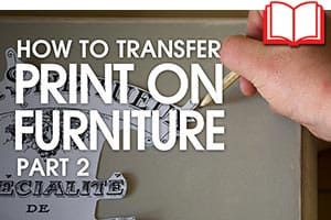 How to transfer print onto furniture - Shabby Chic Stencils