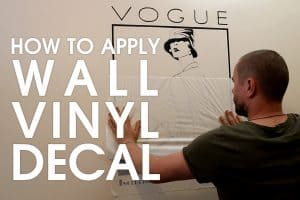Video tutorial on applying Art Deco vinyl - Vogue Magazine Cover