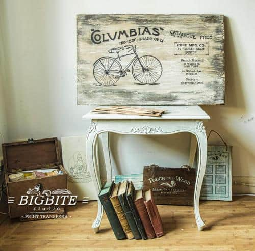 Screen printing:Columbias Bicycles