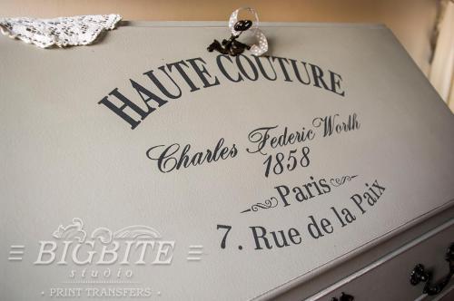 Screen printing:Haute Couture