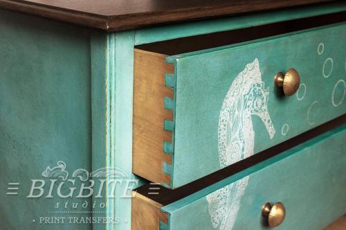 Screen printing:Sea Horse