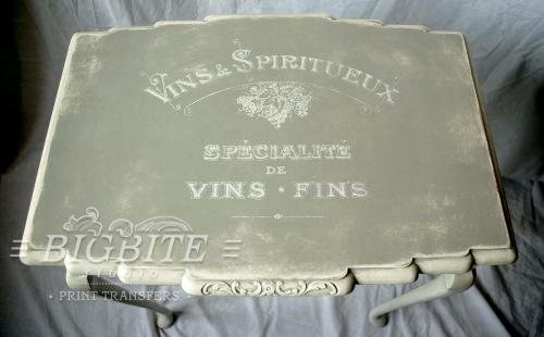 Screen printing:Vins & Spiritueux