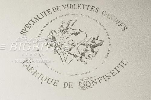 Screen printing:Violettes Candies