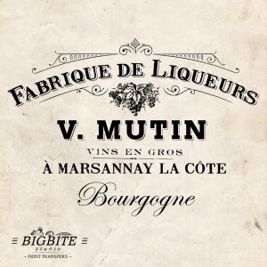 Vintage French advert - print transfer for furniture