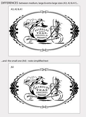 Reynolds Teas American Merchant Advert - Vintage Stencil
