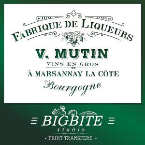 main preview of shabby chic stencil fabrique de liqueurs vintage french advert