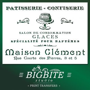 shabby chic stencil - french patisserie (bakery) advert