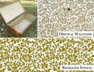 Vintage Italian Floral Wallpaper Pattern - Stencil