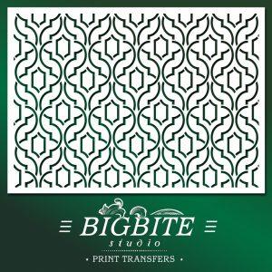 Simple Weave Geometric Pattern - Wallpaper Stencil - main image