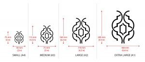 Simple Weave Geometric Pattern - Wallpaper Stencil - sizes