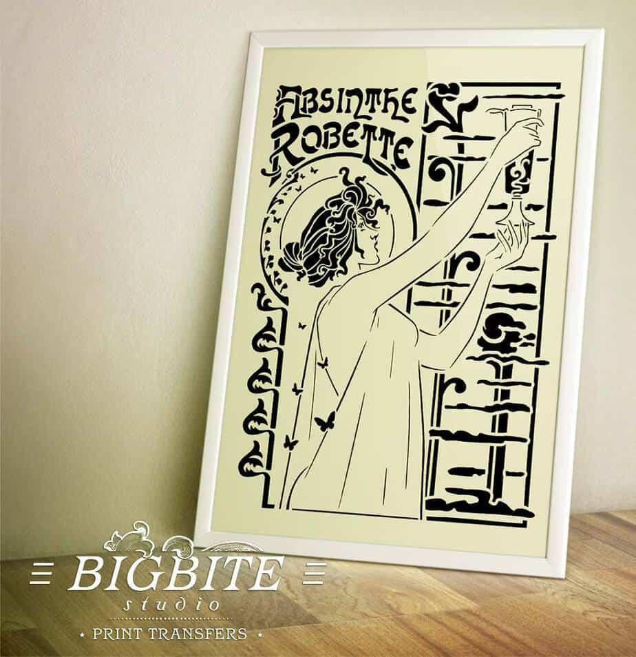 preview of Vintage Art Deco Stencil - Absinthe Robette Advert