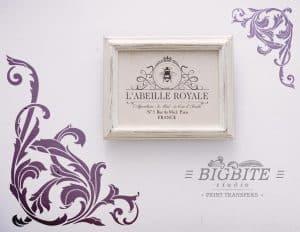 Vintage Corner Scroll - Acanthus Floral Orament Stencil - in purple