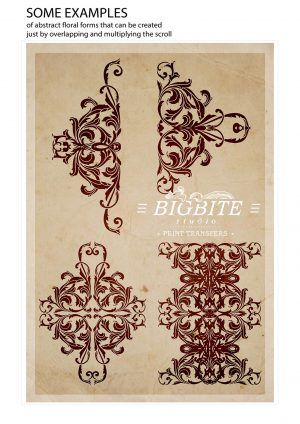 Vintage Corner Scroll - Acanthus Floral Orament Stencil - endless possibilities to be creative