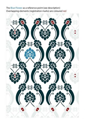 Vintage Floral Art Nouveau Wallpaper