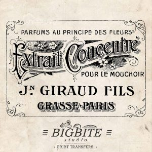 Vintage French Label: Giraud Fils Perfume