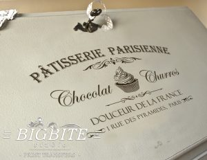Preview of VIntage French Water Decal - Patisserie Parisienne