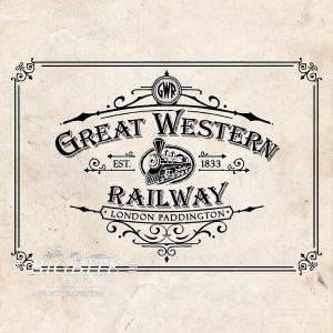 Vintage Print Transfer - Great Western Railway Advert - main image