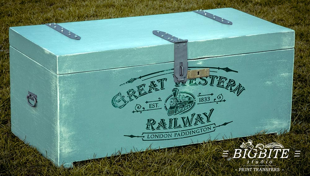 Vintage Stencil - Great Western Railway Advert - worker'e box