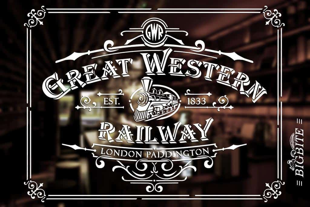 Vintage Stencil - Great Western Railway Advert - whiskey bar
