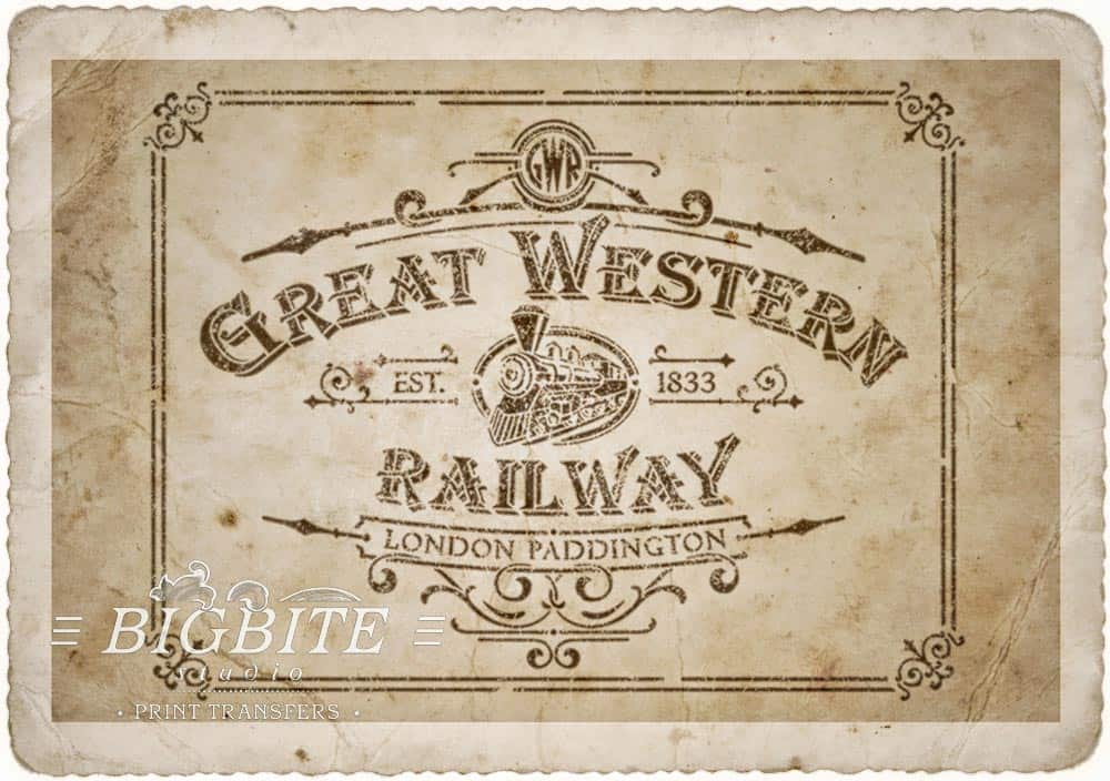 Vintage Stencil - Great Western Railway Advert - old paper