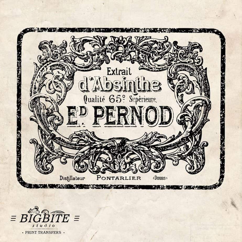 absinthe pernod vintage label